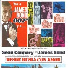 Cinéma: DESDE RUSIA CON AMOR / GOLDFINGER SEAN CONNERY JAMES BOND 007 HOJA DE CATÁLOGO 16MM AÑOS 80. Lote 225012613
