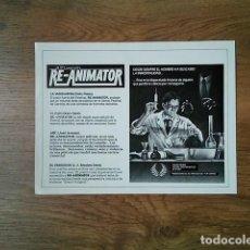 Cine: GUÍA PUBLICITARIA RE ANIMATOR. Lote 225105980