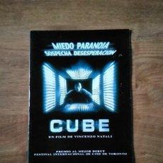 Cine: GUÍA PUBLICITARIA - CUBE. Lote 225108125