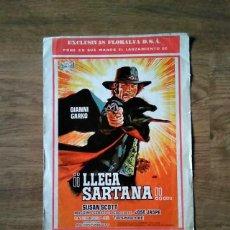 Cine: GUÍA PUBLICITARIA - LLEGA SARTANA - WESTERN. Lote 225108590