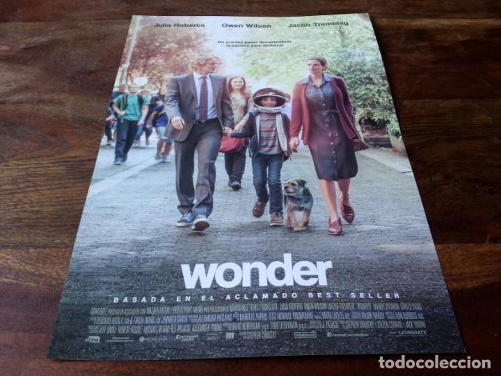 WONDER - JACOB TREMBLAY, JULIA ROBERTS, OWEN WILSON - GUIA ORIGINAL EONE 2017 (Cine - Guías Publicitarias de Películas )
