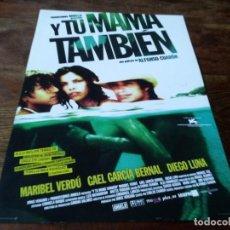 Cinema: Y TU MAMÁ TAMBIÉN - MARIBEL VERDÚ, GAEL GARCÍA BERNAL, DIEGO LUNA - GUIA ORIGINAL WARNER 2001. Lote 225863308