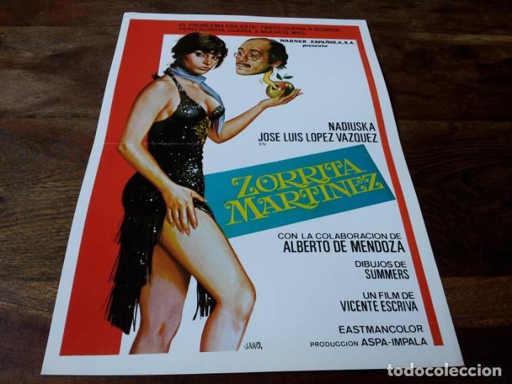 ZORRITA MARTÍNEZ - NADIUSKA, JOSÉ LUIS LÓPEZ VÁZQUEZ, BARBARA REY - GUIA ORIGINAL WARNER 1975 (Cine - Guías Publicitarias de Películas )