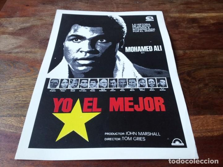 YO, EL MEJOR - MUHAMMAD ALI, ERNEST BORGNINE, ROBERT DUVALL - GUIA ORIGINAL COLUMBIA 1977 (Cine - Guías Publicitarias de Películas )