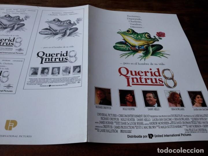 QUERIDO INTRUSO - RICHARD DREYFUSS, HOLLY HUNTER, DANNY AIELLO - GUIA ORIGINAL U.I.P 1991 (Cine - Guías Publicitarias de Películas )