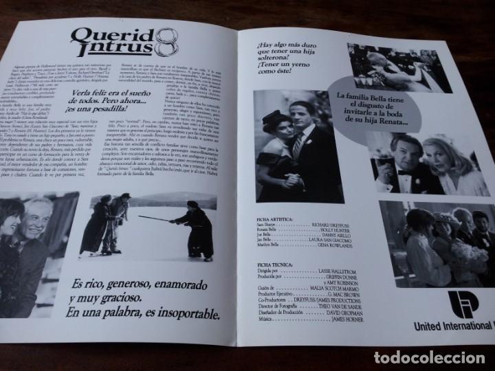 Cine: Querido intruso - Richard Dreyfuss, Holly Hunter, Danny Aiello - guia original u.i.p 1991 - Foto 2 - 226114505