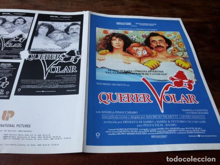 QUERER VOLAR - ANIMACIÓN, MAURIZIO NICHETTI, ANGELA FINOCCHIARO - GUIA ORIGINAL U.I.P 1991 (Cine - Guías Publicitarias de Películas )