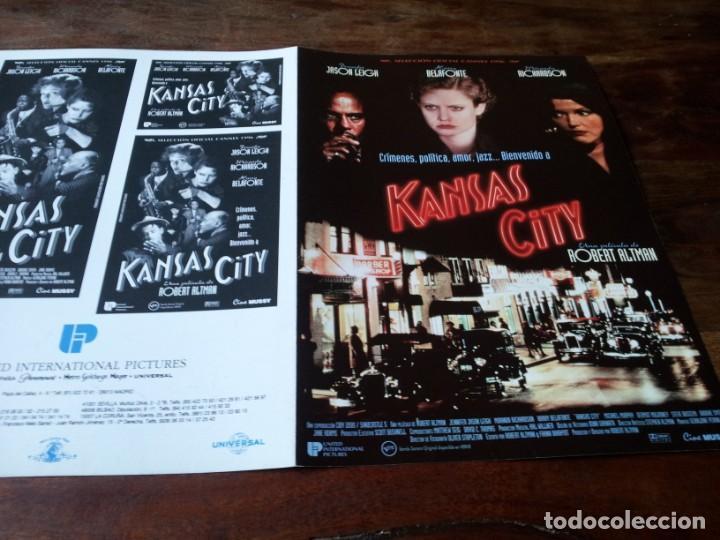 KANSAS CITY - JENNIFER JASON LEIGH, HARRY BELAFONTE, MIRANDA RICHARDSON - GUIA ORIGINAL U.I.P 1996 (Cine - Guías Publicitarias de Películas )
