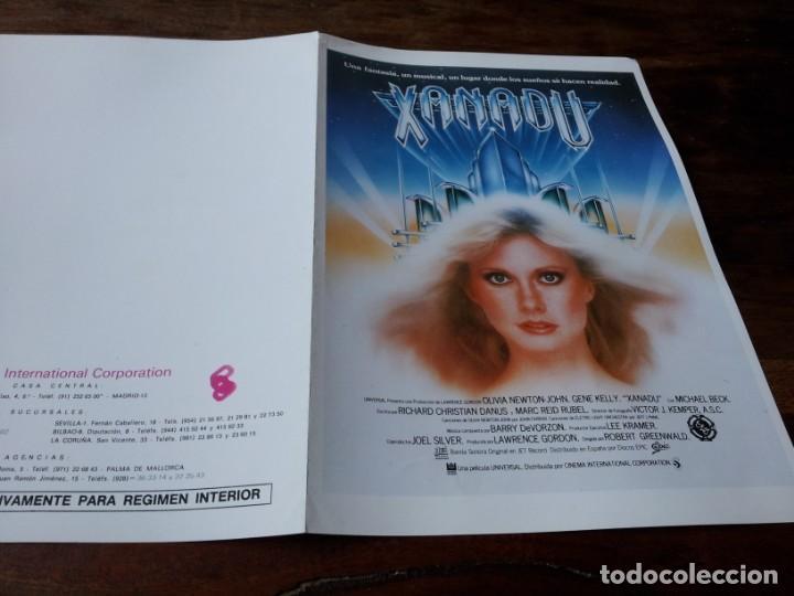 XANADU - OLIVIA NEWTON-JOHN, GENE KELLY, MICHAEL BECK - GUIA ORIGINAL C.I.C 1980 (Cine - Guías Publicitarias de Películas )