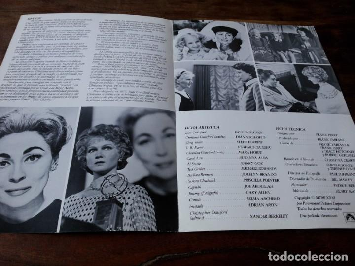 Cine: Queridísima mamá - Faye Dunaway, Steve Forrest, Diana Scarwid - guia original c.i.c 1981 - Foto 2 - 226119220