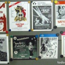 Cinema: G5509D FEDERICO FELLINI COLECCIÓN DE 7 GUIAS ORIGINALES ESPAÑOLAS. Lote 226399458