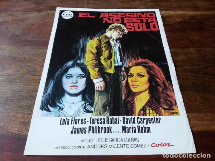 EL ASESINO NO ESTÁ SOLO - LOLA FLORES, TERESA RABAL, DAVIS CARPENTER - GUIA ORIGINAL CEA 1974 JANO (Cine - Guías Publicitarias de Películas )