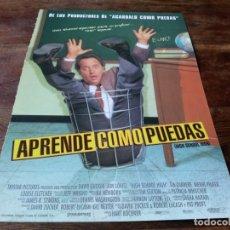 Cinéma: APRENDE COMO PUEDAS - JON LOVITZ, TIA CARRERE, LOUISE FLETCHER - GUIA ORIGINAL COLUMBIA 1996. Lote 226887995