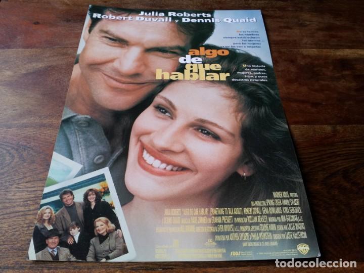 ALGO DE QUE HABLAR - JULIA ROBERTS, DENNIS QUAID, ROBERT DUVALL - GUIA ORIGINAL WARNER 1995 (Cine - Guías Publicitarias de Películas )