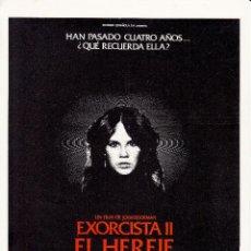 Cinema: EL EXORCISTA II - EL HEREJE / LINDA BLAIR - RICHARD BURTON - 1977. Lote 227620625