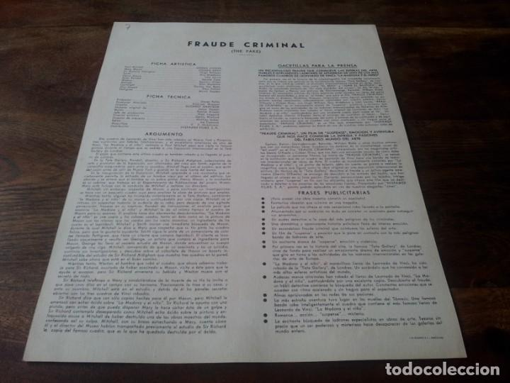 Cine: Fraude criminal - Dennis OKeefe, Coleen Gray, Hugh Williams - guia original hispamex 1953 - Foto 2 - 228323375