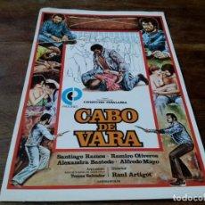 Cinema: CABO DE VARA - SANTIAGO RAMOS, RAMIRO OLIVEROS, ALFREDO MAYO - GUIA ORIGINAL PROCINES 1978. Lote 228491785