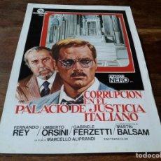 Cinema: CORRUPCIÓN EN EL PALACIO DE JUSTICIA ITALIANO - FRANCO NERO - GUIA ORIGINAL S. RAMADE 1976 JANO. Lote 228699920