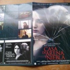 Cine: CASA DE ARENA Y NIEBLA - JENNIFER CONNELLY, BEN KINGSLEY - GUIA ORIGINAL FILMAX 2003. Lote 278969813