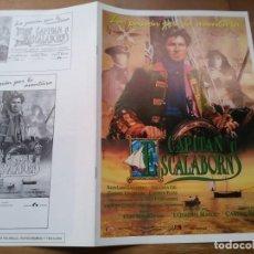Cinéma: CAPITÁN ESCALABORNS - JUAN LUIS GALIARDO, ARIADNA GIL, GUNNEL LINDBLOM - GUIA ORIGINAL LAUREN 1991. Lote 229593830
