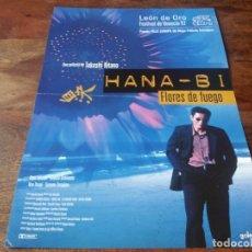 Cinema: HANA-BI. FLORES DE FUEGO - TAKESHI KITANO,KAYOKO KISHIMOTO,TETSU WATANABE - GUIA ORIGINAL GOLEM 1997. Lote 230082460