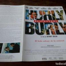 Cinema: HURLYBURLY DESCONTROL - SEAN PENN, KEVIN SPACEY, MEG RYAN,ROBIN WRIGHT - GUIA ORIGINAL SHERLOCK 1998. Lote 230411470