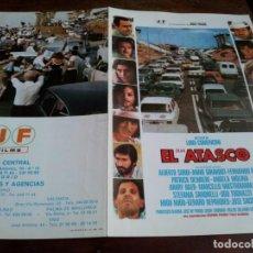 Cinema: EL GRAN ATASCO - ALBERTO SORDI, ANNIE GIRARDOT, FERNANDO REY - GUIA ORIGINAL J. FRADE 1979. Lote 230914320