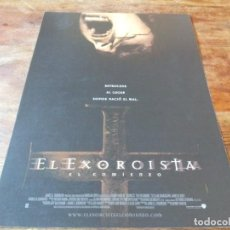 Cinéma: EL EXORCISTA: EL COMIENZO - STELLAN SKARSGARD, JAMES D'ARCY,RENNY HARLIN - GUIA ORIGINAL WARNER 2004. Lote 232211445