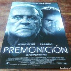 Cinema: PREMONICIÓN - ANTHONY HOPKINS, ABBIE CORNISH, COLIN FARRELL - GUIA ORIGINAL EONE 2015. Lote 232873167