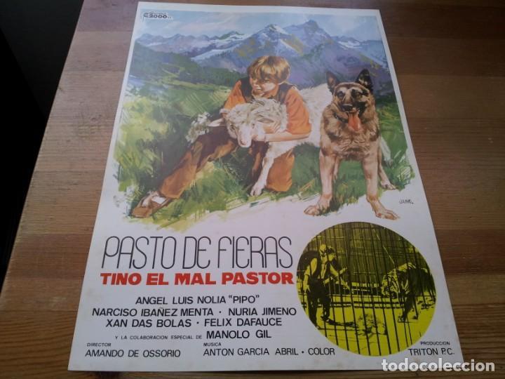 PASTO DE FIERAS - XAN DAS BOLAS, MANUEL GIL, NURIA GIMENO - GUIA ORIGINAL CINEMA 1969 JANO (Cine - Guías Publicitarias de Películas )