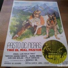 Cine: PASTO DE FIERAS - XAN DAS BOLAS, MANUEL GIL, NURIA GIMENO - GUIA ORIGINAL CINEMA 1969 JANO. Lote 233003585