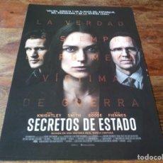 Cine: SECRETOS DE ESTADO - KEIRA KNIGHTLEY, MATT SMITH, RALPH FIENNES - GUIA ORIGINAL EONE 2019. Lote 278969383