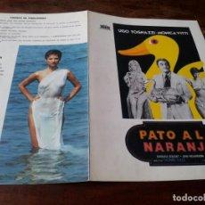 Cinema: PATO A LA NARANJA - MONICA VITTI, UGO TOGNAZZI, BARBARA BOUCHET - GUIA ORIGINAL MERCURIO 1976. Lote 233544265