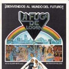 Cine: LA FUGA DE LOGAN: MICHAEL YORK - JENNY AGUTTER - RICHARD JORDAN - 1976. Lote 234011650