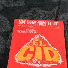 Cine: EL CID - PARTITURA PROMOCIONAL DEL ESTRENO EN EEUU - ORIGINAL DEL ESTRENO - SAMUEL BRONSTON. Lote 234350265