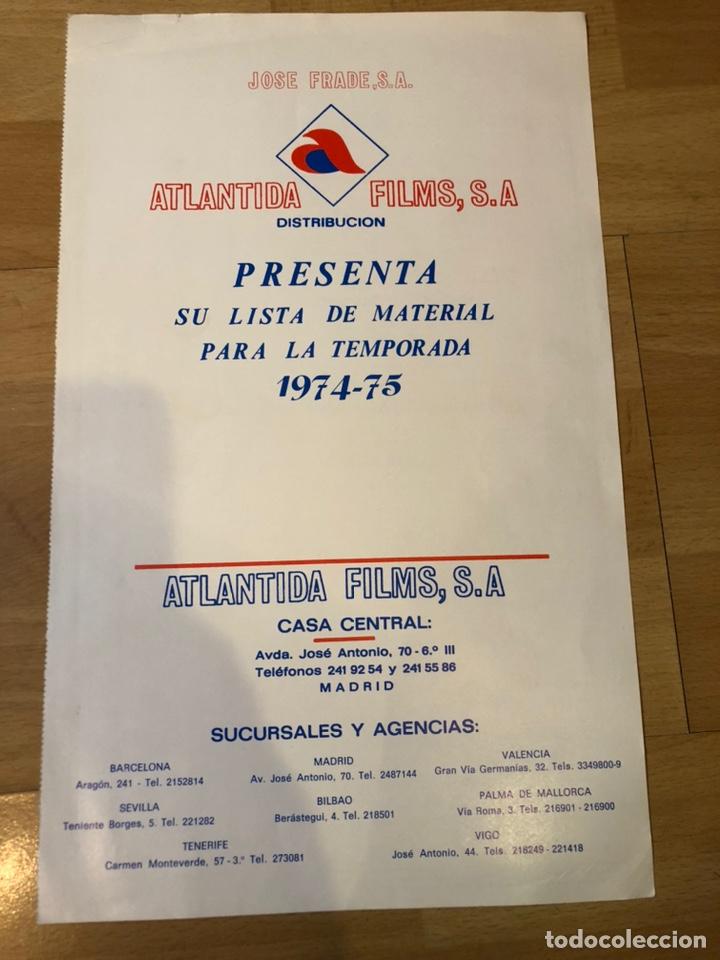 GUIA ATLÁNTIDA FILMS LISTA DE MATERIAL 1974 75 TORMENTO ANA BELEN.LA REVOLUCIÓN MATRIMONIAL (Cine - Guías Publicitarias de Películas )