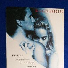 Cine: GUIA PUBLICITARIA: INSTINTO BASICO. CON: MICHAEL DOUGLAS, SHARON STONE. DIR. PAUL VERHOEVEN. Lote 235985675
