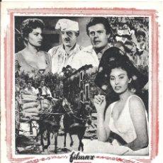 Cine: G6392D LA BELLA CAMPESINA SOPHIA LOREN MARCELLO MASTROIANNI DE SICA GUIA ORIGINAL ESTRENO FILMAX. Lote 236057420
