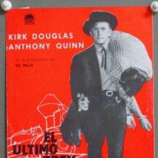 Cine: G8867D EL ULTIMO TREN DE GUN HILL KIRK DOUGLAS JOHN STURGES GUIA ORIGINAL ESTRENO PARAMOUNT. Lote 236057835