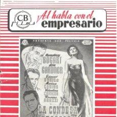 Cine: G6879D LA CONDESA DESCALZA AVA GARDNER HUMPHREY BOGART HUSTON GUIA ORIGINAL CB ESTRENO. Lote 236057950