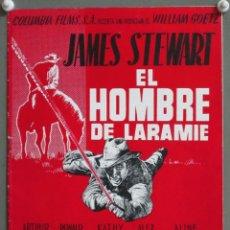 Cine: G8866D EL HOMBRE DE LARAMIE JAMES STEWART ANTHONY MANN GUIA ORIGINAL COLUMBIA ESTRENO. Lote 236058030