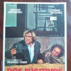 Cine: DOS FUGITIVOS (FRANCIS VEBER) - LES FUGITIFS, 1986 - GUÍAS PROMOCIONAL Y PUBLICITARIAS DE PELÍCULAS. Lote 238621085