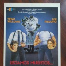 Cine: ESTAMOS MUERTOS... ¿O QUE?, (DEAD HEAT) 1988 - GUÍAS PROMOCIONAL Y PUBLICITARIAS DE PELÍCULAS. Lote 238625705