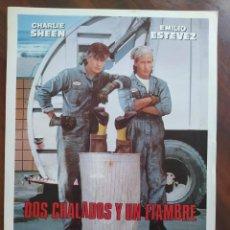 Cine: DOS CHALADOS Y UN FIAMBRE, 1990 (MEN AT WORK) - GUÍAS PROMOCIONAL Y PUBLICITARIAS DE PELÍCULAS. Lote 238625800