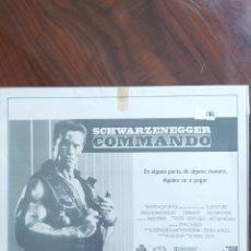 Cine: COMANDO, 1985 (COMMANDO) - SCHWARZENEGGER - GUÍAS PROMOCIONAL Y PUBLICITARIAS DE PELÍCULAS. Lote 238626410