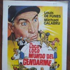 Cine: EL LOCO, LOCO MUNDO DEL GENDARME, 1982 - GUÍAS PROMOCIONAL Y PUBLICITARIAS DE PELÍCULAS. Lote 238628600