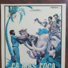 Cine: LA MÁS LOCA AVENTURA DE LA JUNGLA, 1982 - IM DSCHUNGEL IST DER TEUFEL LOS - GUÍAS PUBLICITARIAS. Lote 238629410