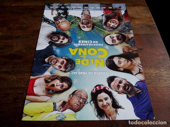 NI DE COÑA - NATHALIE SESEÑA, GOYO JIMÉNEZ, J.J. VAQUERO, JORDI SÁNCHEZ - GUIA ORIGINAL ALFA 2020 (Cine - Guías Publicitarias de Películas )