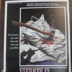 Cine: VIERNES 13 - GUIA PUBLICITARIA ORIGINAL - FRIDAY THE 13TH - JASON - SLASHER GORE. Lote 241087965