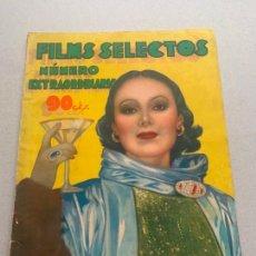 Cine: FILMS SELECTOS NUM EXTRAORDINARIO OCTUBRE DE 1934. Lote 241439065